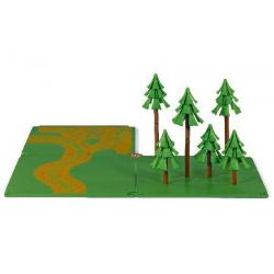Skogsbilväg och skog SIKUWORLD