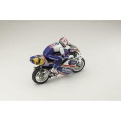 MOTO HANGING ON RACER