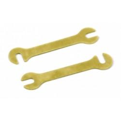 Shim Stål 0.6mm Guld (2)